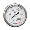 Interstate Pneumatics G7122-2500 Oil Filled Pressure Gauge 2500 PSI 2-1/2 Inch Dial 1/4 Inch NPT Rear Mount