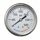 Interstate Pneumatics G7122-3000 Oil Filled Pressure Gauge 3000 PSI 2-1/2 Inch Dial 1/4 Inch NPT Rear Mount