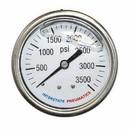 Interstate Pneumatics G7122-3500 Oil Filled Pressure Gauge 3500 PSI 2-1/2 Inch Dial 1/4 Inch NPT Rear Mount