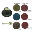 Superior Pads & Abrasives PP20K 2 Inch Diameter 7pcs Twist Lock Spindle Disc Surface Conditioning Kit