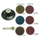 Superior Pads & Abrasives PP30K 3 Inch Diameter 7pcs Twist Lock Spindle / Disc Surface Conditioning Kit