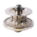 Specialty Diamond V30FBPW 1-1/4 Inch Full Bullnose Vacuum Brazed Diamond Profile Wheel with 5/8 Inch-11 Female Threads