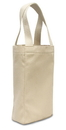 Liberty Bags 1726-88 Napa Two Bottle Wine Tote - Natural Coated