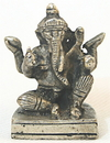 Parastone B-600 Ganesh Seated Mini Statue, pewter over bronze