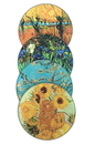 Parastone CS01GOG Van Gogh Paintings Glass Coasters Set of 4 with Storage Stand