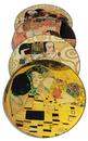 Parastone CS04KL Klimt Paintings Glass Coasters Set of 4 with Storage Stand