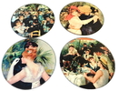 Parastone CS07REN Renoir Paintings Glass Coasters Set of 4 with Storage Stand