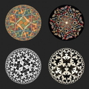 Parastone CS14ESC Escher Tessellations Circles Geometric Bar Drink Glass Coasters Set of 4