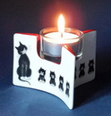 Parastone DUB114 Dubout Cats in a Row l'Alignment Ceramic Tealight