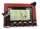 Parastone DUB40 Cats in a Line Mama Kitty with Kittens Red Picture Frame by Dubout
