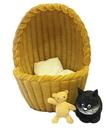 Parastone DUB50 Cozy Nest Kitten in Basket with Teddy Bear by Dubout