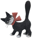 Parastone DUB71 Cat La Minette Black So Cute with Red Bow and Tail Up Figurine by Dubout