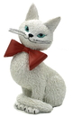 Parastone DUB76 Cat White Coquette So Cute Coy Look Wearing Red Bow Figurine by Dubout