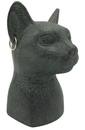 Parastone EG13 Bastet Cat Egyptian Bust with Earrings and Solar Disc Small Statue 3.4H