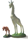 Parastone JB31 Giraffe and Two-Legged Dog Set by Bosch from Garden of Earthly Delights