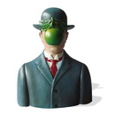 Parastone MAG01 Son of Man Wearing Bowler Hat by Magritte