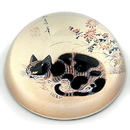 Parastone PBYE1 Cat in a Garden Glass Paperweight by Sang-Byeok