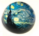 Parastone PGOG4 Starry Night Glass Paperweight by Van Gogh