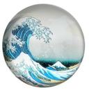 Parastone PHOK1 Great Wave off Kanagawa Glass Paperweight by Hokusai