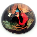 Parastone PJB2 Bird With Letter from Temptation of St Anthony Glass Paperweight by Bosch