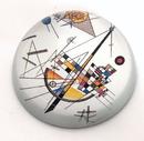 Parastone PKAN1 Mild Tension Abstract Modern Glass Paperweight by Kandinsky