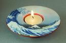 Parastone TP05HOK Hokusai Wave Round Flat Ceramic Tealight