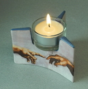 Parastone TT03MIC Michelangelo Creation Hands Spark of Life Ceramic Tealight