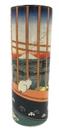 Parastone VAS08HI Cat Sees Mount Fuji Japanese Bud Flower Vase by Hiroshige
