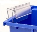Bin Clip BC-13B Label Holder for Bins, clear