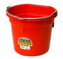 Miller P20FBRED Flat Back Plastic Bucket - Red -20 Quart - Each