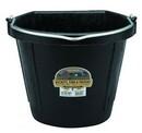 Miller DFW20 Flat Back Rubber Bucket - Black - 20 Quart - Each