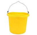 Fortex 1302004 Flatback Bucket - 20 Quart - Yellow - Each