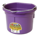 Miller P8FBPURPLE Flat Back Plastic Bucket - Purple - 8 Quart - Each