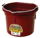Miller P8FBBURGUNDY Flat Back Plastic Bucket - Burgundy - 8 Quart - Each