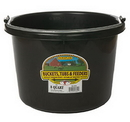 Miller P8BLACK Plastic Bucket - 8 Quart - Black - Each