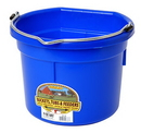Miller P8FBBLUE Flat Back Plastic Bucket - Blue - 8 Quart - Each