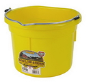 Miller P8FBYELLOW Flat Back Plastic Bucket - Yellow - 8 Quart - Each