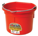 Miller P8FBRED Flat Back Plastic Bucket - Red - 8 Quart - Each