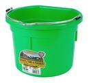 Miller P8FBLIMEGREEN Flat Back Plastic Bucket - Lime Green - 8 Quart - Each