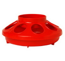 Miller 806RED Plastic Feeder Base - Quart - Red - Each