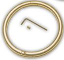 Behlen 099661 Bull Ring - Brass - 3In X 5/16In - Each