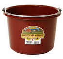 Behlen P8BURGUNDY Plastic Bucket - 8 Quart - Burgundy - Each