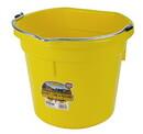 Behlen P20FBYELLOW Flat Back Plastic Bucket - Yellow -20 Quart - Each