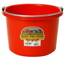 Behlen P8RED Plastic Bucket - 8 Quart - Red - Each