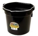 Behlen P20FBBLACK Flat Back Plastic Bucket - Black -20 Quart - Each