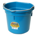 Behlen P20FBTEAL Flat Back Plastic Bucket - Teal-20 Quart - Each