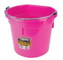 Behlen P20FBHOTPINK Flat Back Plastic Bucket - Hot Pink -20 Quart - Each