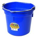 Behlen P20FBBLUE Flat Back Plastic Bucket - Blue -20 Quart - Each