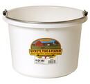 Behlen P8WHITE Plastic Bucket - 8 Quart - White - Each
