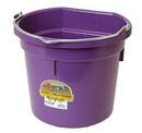 Behlen P20FBPURPLE Flat Back Plastic Bucket - Purple -20 Quart - Each